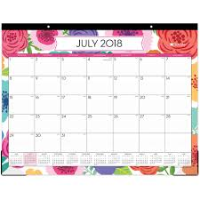 School Calendar Template 2020 17 Blue Sky Mahalo Monthly Desk Pad Yes Monthly 1 Year