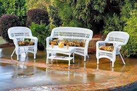 4PC Outdoor Espresso Wicker Patio Furniture Set Wicker