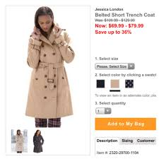 classic trench coat plus size