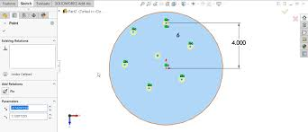 Circular Pattern Solidworks Fascinating SOLIDWORKS Hole Wizard With Circular Sketch Pattern