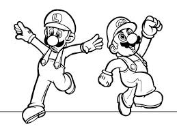 Small Picture Mario and Luigi Dancing in Mario Brothers Coloring Page Color Luna