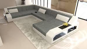 Details Zu Wohnlandschaft Matera Xxl Design Couch Luxus Sofa Stoff Strukturstoff Weiss Grau