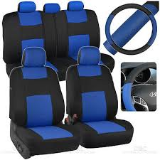 beige black car seat covers w split