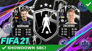 WTF EA! FINGER WEG! 😱❌ HERRMANN & ZINCHENKO SHOWDOWN SBC! UCL-SHOWDOWN  SBC! | FIFA 21 ULTIMATE TEAM - YouTube