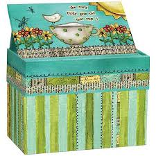 Where To Buy Recipe Cards In Stores Artisan Recipe Card Box With Recipe Cards Color My World