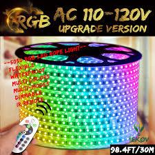 120v Led Rope Light Superonlinemall Ac 110 120v Flexible Waterproof Led Strip