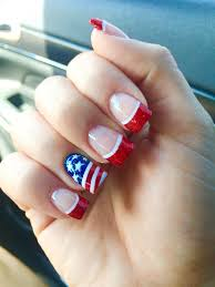 Gel Nail Designs For 4th Of July Fourth Of July Nails Wide Nails Nails Nails 2018