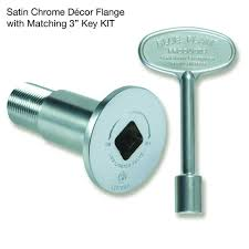 blue flame gas valve and key kit in satin chrome