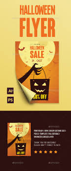 halloween sale flyer halloween sale flyer flyer template ai illustrator and fonts