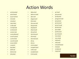 Action Verb Examples Action Verb Examples Resume Examples Action
