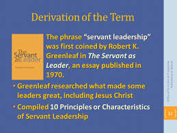 servant leadership lead like jesus ppt video online  derivation of the term