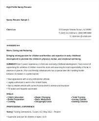 nanny resume objective nanny resume 8 free sample example format free  premium nanny resume examples resume