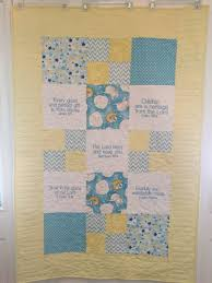 Yellow and blue baby quilt &  Adamdwight.com