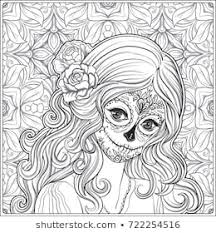 Day Dead Skull Coloring Pages Images Stock Photos Vectors