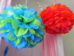 How To Make Tissue Paper Balls Decorations Interesting Tissue Pom Pom Tutorial YouTube