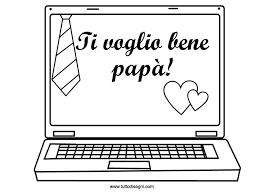 Disegno Per La Festa Del Papà Da Colorare Gratis Tuttodisegnicom