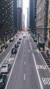 chicago, skyscrapers, street ...