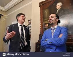 U.S. Treasury Secretary Jack Lew meets with Hamilton creator and star Stock  Photo - Alamy