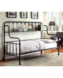 contemporary industrial furniture. furniture of america bastion contemporary industrial metal spindle daybed with shelf black size
