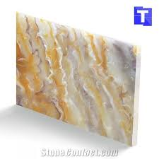 translucent stone resin panels faux onyx sheet for wall lighting decors