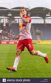 Fredrik Gulbrandsen (Red Bull Salzburg) celebrates after scoring his team's  first goal during Austrian