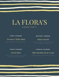 Formal Dinner Menu Template Adorable Customize 48 Dinner Party Menu Templates Online Canva