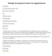 Accepting Offer Letter Employment Acceptance Letter Template Accepting Job Offer