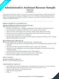 Office Assistant Resume Example Store Administrative Assistant