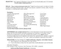 Resume Career Objective Sample Career Objective For Real Estate