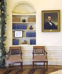 oval office paintings. The Likeness Of Abraham Lincoln Graced Bush Oval Office Two Times: First, This Paintings