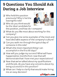 good questions to ask during a job interview 9 questions you should ask during a job interview qiktippix