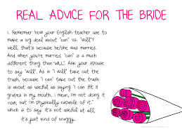 advice for the bride this is not that blog Humorous Wedding Advice Humorous Wedding Advice #38 humorous wedding advice for bride