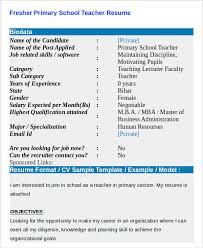 Teaching Job Resume Format Resume Model For Teachers Free Download