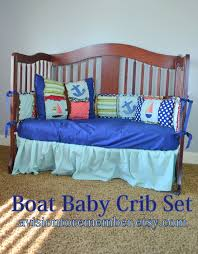 sailbooat anchor baby boy crib set