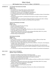 Methods Engineer Resume Samples Velvet Jobs