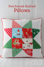 Patchwork Quilted Christmas Pillow Tutorial &  Adamdwight.com
