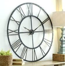 metal wall clocks rustic metal wall clock clocks large wood wall clock oversized rustic wall clocks