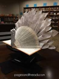 recycled book turkey pages threads