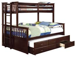 Bedroom: Bunk Bed Bedroom Sets Luxury University Oak Twin Over Twin Size Bunk  Bed Trundle