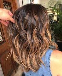 Light Caramel Ombre Hair Pin On Bob Hair