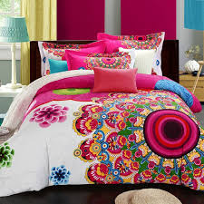 king size quality bedding set directly from china boho bedding set suppliers boho bedding set fl bed linen home textiles printed duvet cover
