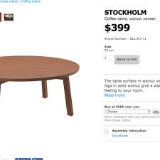ikea stockholm coffee table original 399 furniture tables chairs on carou