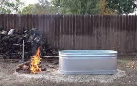 build a wood fired hot tub for 150