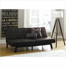 dhp delaney splitback leather convertible sofa in black bca living room furniture