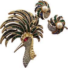 Trifari Alfred Philippe Designs Trifari Alfred Philippe Sapphire And Emerald Firebird