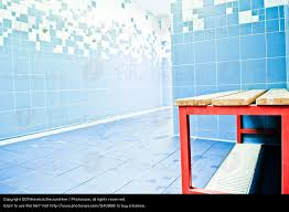 blue red wet chair swimming pool bathroom bench tile shower installation stool changing room