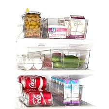 stackable freezer baskets refrigerator organizer set of 6 refrigerator stacking freezer freezer storage baskets stackable deep