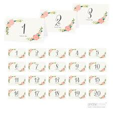 42389 Boho Floral Tea Party Table Tent Place Cards 20 Pack