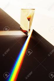 A Prism Illustrating The Refraction Of White Light Into The Colours