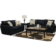 casual contemporary dark blue 2 piece living room set hannah rc willey furniture